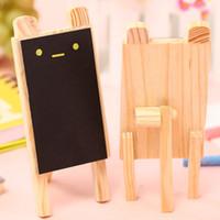 Wholesale 8 Small blackboard Mini pizarras Cute rabbit black board Wooden chalkboard zakka office accessories school supplies