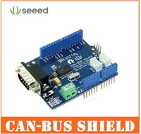 Wholesale Seeed Studio CAN BUS Shield adopts MCP2515 CAN Bus controller with SPI interface MCP2551 CAN transceiver for Arduino SLD01105P top sale