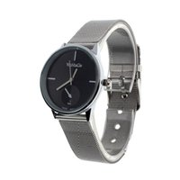 accurate time clock - Luxury Small Dial Womens Analog Quartz Clock Stainless Steel Accurate Time Wrist Watch Fashion Black Dress Watch Gift girl A7