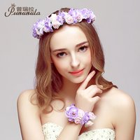 Cheap 2015 Handmade Flower Headband Hair Accessories For Women Decorations For Hair Summer Style Accessories Cheap Modest Free Shipping New aRRIVE