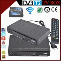 Wholesale Origianl hd DVB t2 Hybrid tuner best set top box enigma2 linus TV Box HDMI USB PVR Recording