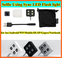 Wholesale For iphone IBLAZR L001 Enhancing Selfie Using Sync LED Flash icanany led video light for DISR monopod selfie stick smartphone led light