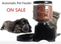 dry dog food - To Russian Automatic Pets Feeder Dogs Cats Timed Food Dispenser Large L Bowls Dry Food Feeder with LCD Recorder Universal