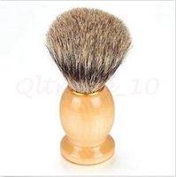 Wholesale 300pcs CCA2932 High Quality Men Shaving Brush Badger Hair Removal Wooden Handle Homeuse Barber Tool BADGER Hair Shaving Brush Cosmetic Tool
