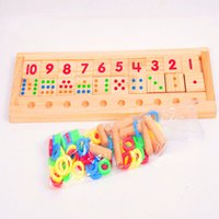 Wholesale 2016 new Learning Education Toys Montessori toy Baby early Educational Raibow Wooden Math Teaching Toys