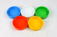 Wholesale 10pcs Multi Color Circle Melamine Cigarette Ashtray Smoking Ash Tray