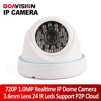 Wholesale HD P H Mini dome IP Camera Securiy Network indoor CCTV Camera Mega pixel ir cut p2p cloud onvif support Android IOS view