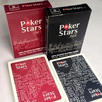 Wholesale Red And Black Waterproof Plastic Playing Cards ABS Texas Poker Stars Sport Card Games