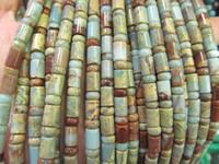aqua terra jasper beads - High Quality strands mm Natural Aqua Terra Jasper gemstone rondelle abacus wheel heishi tube bar column rainbow jewelry beads