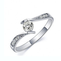 Wholesale Eternal Love Authentic Sterling Silver Ring CZ Diamond Engagement Wedding Jewelry Women Men s Ring Christmas Gifts For Everyone RJZ0076
