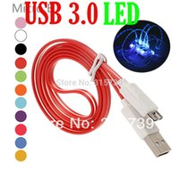 Wholesale 1m LED Light Micro USB Data Sync charger Cable for Samsung Galaxy Note S5 N9000 we also have it for iphone V8 micro