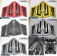 Wholesale original novo Motorcycle pedals TMAX T MAX CNC pedais da bicicleta de aluminio em torno rizoma Foot Rests