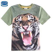 angry t shirt - boys clothing printed angry tiger children shirts summer nova kids boys t shirt casual cotton short sleeve shirts for boys C5912