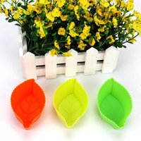 Wholesale Leaf shape cake mold silicone baking DIY appliance Silicone Muffin Cases Cake Cupcake Liner Baking
