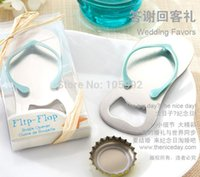 wedding gifts for guests - 10pcs Creative novelty items flip flops bottle opener wedding favors gift packaging giveaways for guest