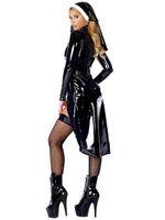Wholesale New Style Nun Costume Sexy Women s Saintlike Seductress Halloween Costume With Vinyl Top Panty and Headpiece