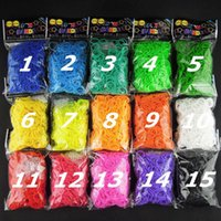 Wholesale Fedex DIY silicone loom bands color rubber loom bands refills used to make bracelet loom bands S clips