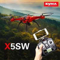 Wholesale 2016 Drones SYMA X5SW WIFI RC Drone FPV Helicopter Quadcopter with HD Camera G Axis Real Time RC Helicopters Toy