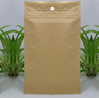 Wholesale High grade Thicken Kraft Paper Ziplock Bag Moistureproof Compound Aluminum Foil Bone Food Packaging Bags DHL Free