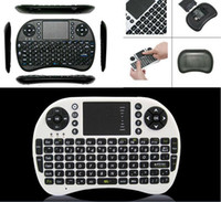 Wholesale I8 Fly Air Mouse Mini Wireless Handheld Keyboard GHz Touchpad Remote Control For M8S MXQ MXIII TV BOX Mini PC