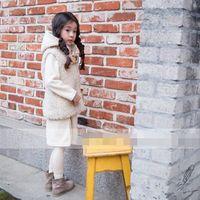 Wholesale 2015 Children Waistcoat cat buttons Hoodies Winter wear Cotton Cartoon Baby Vest Coat Candy Colour Age S929L