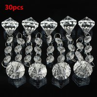 acrylic chandelier prisms - Hot Sale DIY crystal Crafts Chandelier Clear Acrylic Ball Lamp Prisms Hanging Drops Pendant Decor Home Livingroom