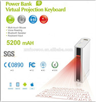 banks usb keyboard - 2015 new innovative power bank virtual laser projection keyboard and mouse via usb bluetooth for cellphone compueter tablet pc laptop noteb