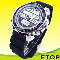 Wholesale Auto Date Watch Spy Camera GB Memory Wrist Watch Camera Mini USB Hidden Spy Camera Resolution for MH33
