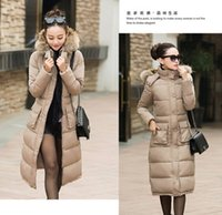 Wholesale 2015 Fashion Jacket Lady Fur Hooded Winter Coat hick Raccoon Fur Coat Jacket Women Slim Down Padded Fashion Hooded Jacket