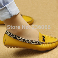 leather shoes for women - New Arrival Fashion Spring and Autumn Flats for Women Flat heel Shoes Leopard Flats Women Shoes XIE002