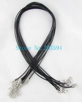 Wholesale Lobster Clasp Mixed Color mm Waxen Cord Necklace cm String Necklace DIY Material Making