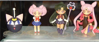 J.G. Chen 4pcs / set de 6 cm de alta calidad japonesa de anime Sailor Moon Sailor Moon PVC Figuras de Acción Juegos de construcción