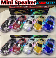 cheap mini computer - Cheap Portable Crystal LED Lights Car Mini Speaker WS789 Loudspeakers Speakers Support TF USB FM Radio Headset MP3 Player Computer Gifts