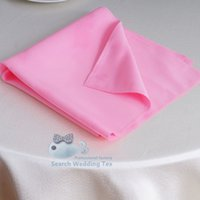 Wholesale Pink Color Plain Poly Table Napkin For Banquet Wedding