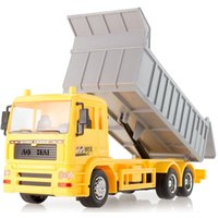 best electric vehicles - Hot sale remote control dump truck rc engineering car electric remote control car best toy car clay transport vehicle model