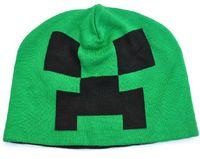 caps for men - Minecraft Creeper Crochet Hats Cartoon Knitted Cap cooliet Knit Beanie Caps Leisure knit cap autumn winter caps for Children Men Women