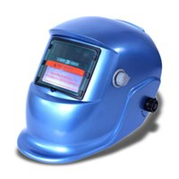 Wholesale 2015 Auto Darkening Solar welders Welding Helmet Mask with Grinding Function blue