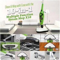 Wholesale 10 in Multi function newest h20 steam mop x10 steam cleaning generator bush generator iron travel steamer
