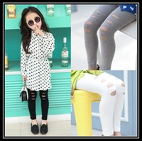 baby skinny - 2016 child baby fashion Leggings Girls Leggings Stretch leggings Solid Color Cotton Tights Cute girls Casual Pants Kids Skinny pencil pants