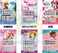 Wholesale frozen NEW Frozen Nail Art Sticker Cartoon children nail stickers Nontoxic nail decals