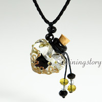 perfume bottle necklace - small perfume bottles lampwork glass aromatherapy pendants vial pendants necklaces
