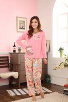 Traditional bear pajama - 1set Autumn winter women pajama sets pieces cotton nightgowns pyjamas women s cute bear sleepwear Z0411