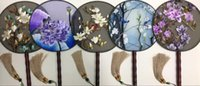 Wholesale Purehandicraft chinese bifacial embroidery fans top grade silk and classical gifts national feature