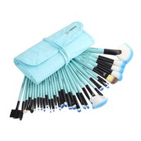 best hair liners - 32 Set Professional Makeup Brushes Set With Soft Blush Powder Eye Liner Brush Pouch Bag For Women s Best Christmas Gift