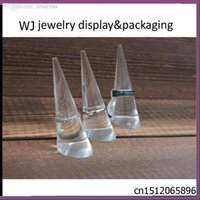 acrylic countertop display cases - Clear Acrylic Ring Jewelry Display Stand Finger Cone Holder Rack Case for Jewellery Shop Window Countertop Presentation