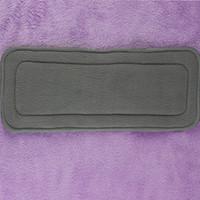Wholesale 100pcs wholesales layers bamboo microfiber Diaper BLD30004 charcoal inserts