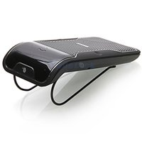 Wholesale Sunvisor Hands Free Bluetooth Car Speaker Universal Bluetooth Car Kits Handsfree Talking Music Streaming Connection with phones Free DHL