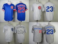 Wholesale cheap stitched baseball jersey Chicago Cubs Ryne Sandberg throwback cool base baseball shirt sportswear