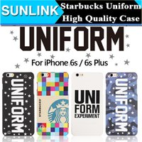 apple experiment - Uniform Experiment UE STARBUCKS Bottles Case Hign Quality Hard PC Back Cover For IPhone S Plus