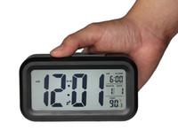 Digital battery operating temperature - Digital Alarm Clock Battery Operated Bedroom Clock Temperature Display Snooze and Large Display Smart Night Light white Backlight Black